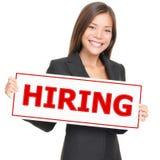 Job woman hiring Stock Photography