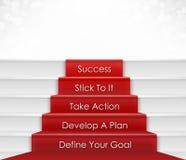 Jobstepp zum Erfolg Stockbilder