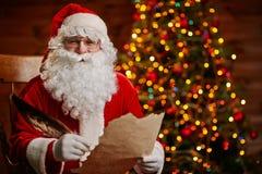Joyful Santa with letter Royalty Free Stock Photo
