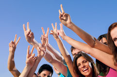 Joyful young people success Royalty Free Stock Images