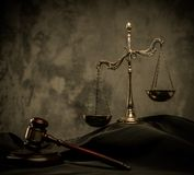 Judge's mantle still-life Royalty Free Stock Image