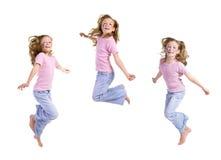 Jump, joy, junior Stock Images