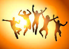Jumping Young Adults Royalty Free Stock Photo