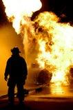 kämpebrandflammor Royaltyfria Bilder