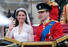 Kate Middleton, príncipe Guillermo Fotos de archivo libres de regalías