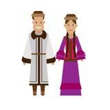 Kazakhs national dress Stock Image