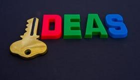 Key to ideas. Royalty Free Stock Photography