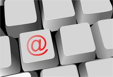 Keyboard, key with email sign Royalty Free Stock Photos