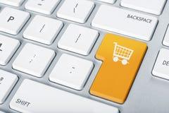 Keyboard online shopping Stock Photos