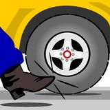 Kick the tire Royalty Free Stock Images