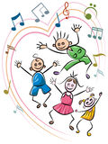 Kid dance Royalty Free Stock Images