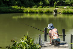 Kid fishing Royalty Free Stock Photography