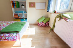 Kids bedroom from the inside Stock Images