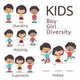 Kids character set Royalty Free Stock Photography