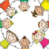 Kids circle Stock Photo