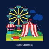 Kids circus fun fair illustration vector Stock Photo