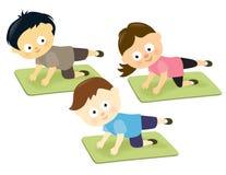 Kids on mats Stock Image