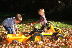 Kids playing outside Stock Image