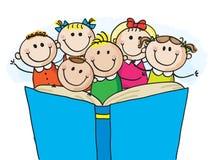 Kids reading Stock Photos