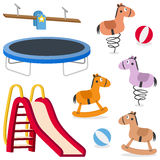 Kids Recreation Ground Games Set Stock Photography