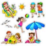 Kids in summer Stock Photo