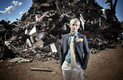 King of the junk yard Stock Photography