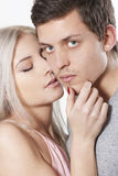 Kissing couple Royalty Free Stock Photo