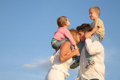Kissing parents Royalty Free Stock Images