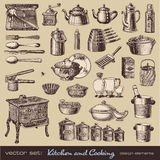 Kitchen and cooking design elements Royalty Free Stock Photography