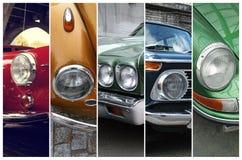 Klassiska bilbillyktor Arkivbild