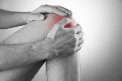 Knee pain in men Stock Images