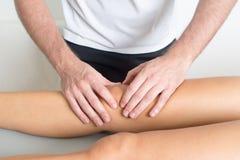 Knee treatment Stock Photography