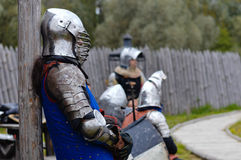 Knight before battle Royalty Free Stock Photo