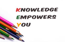 Knowledge empowers you Royalty Free Stock Image