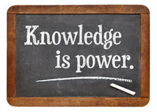 Knowledge is power Stock Images