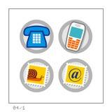 KOMMUNIKATION: Ikone stellte 04 - Version 1 ein Lizenzfreies Stockbild