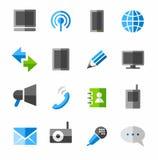 Kommunikation, Verbindung, Ikonen, gefärbt Stockbilder