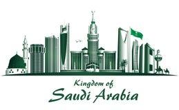 Koninkrijk van de Beroemde Gebouwen van Saudi-Arabië Stock Fotografie