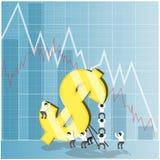 Konzept für Wirtschaftsaktien- und devisenmarkt Lizenzfreie Stockbilder