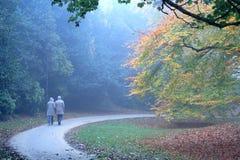 La gente di autunno Fotografia Stock