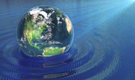 La nostra terra in acqua Fotografie Stock