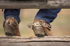 Laarzen en Aansporingen Royalty-vrije Stock Fotografie