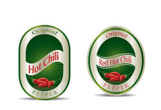 Label for a product (chilli sauce) Royalty Free Stock Image