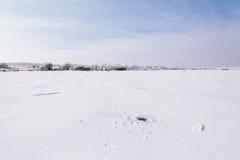 Lac congelé par hiver Images libres de droits