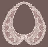 Lace detachable collar-necklace. Royalty Free Stock Images