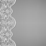 Lace and floral ornaments Stock Photos