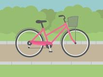 Lady Bike Royalty Free Stock Photography