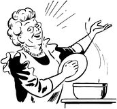 Lady Cook With Pot Stock Images