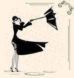 Lady and rain Royalty Free Stock Image