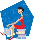 Lady shopping Royalty Free Stock Photos